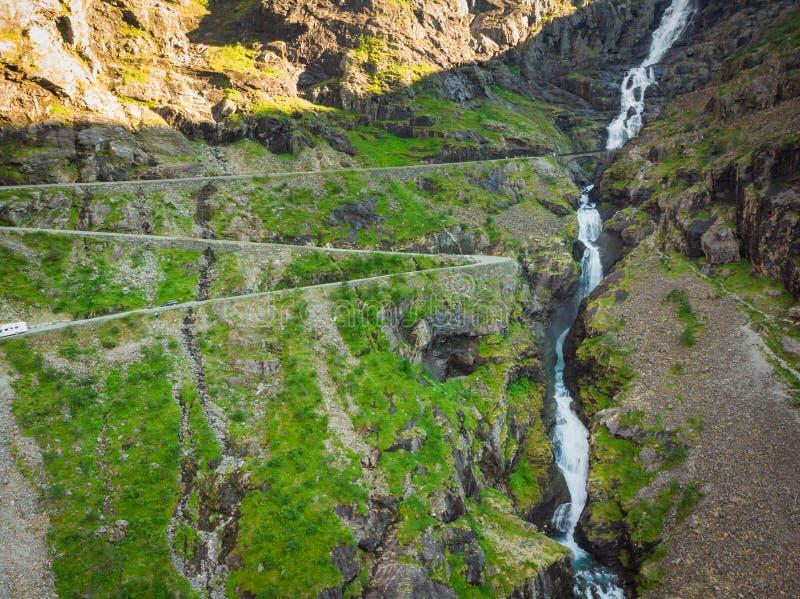 Дорога горы Trollstigen в Норвегии стоковые фотографии rf