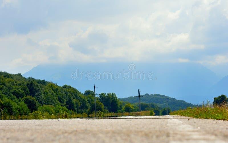 дорога гор caucasus к стоковые фотографии rf