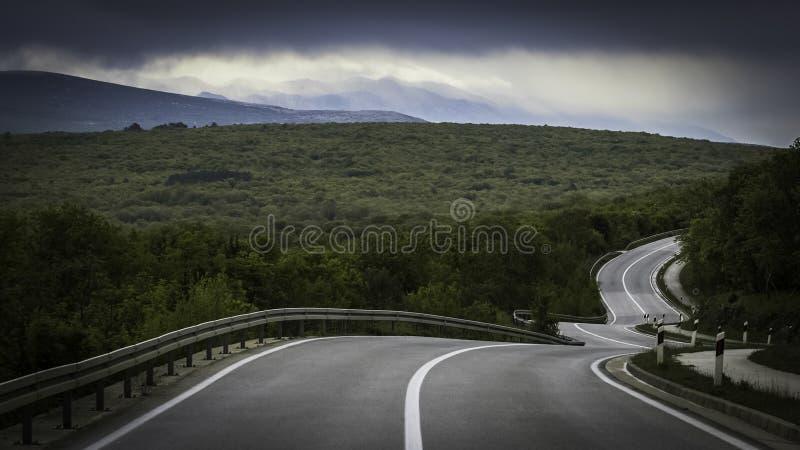 Дорога змеек стоковая фотография rf