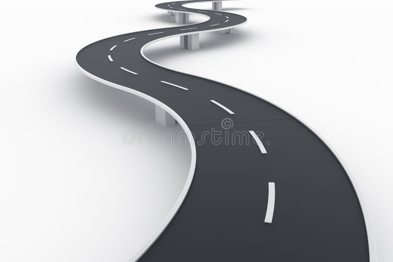 дорога изогнутая мостом стоковые изображения