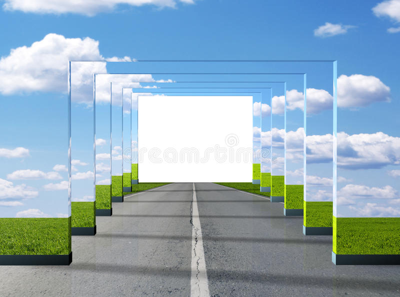 дорога иллюзиона иллюстрация штока