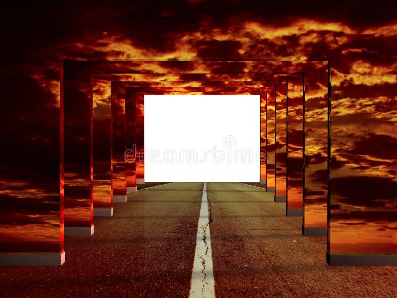 дорога иллюзиона бесплатная иллюстрация