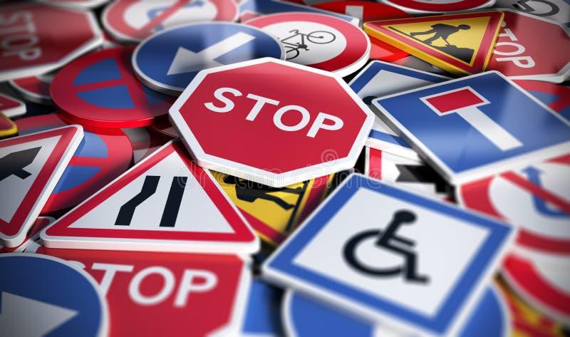 Дорога или знаки уличного движения бесплатная иллюстрация