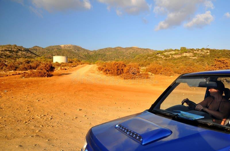 дорога Кипра утесистая стоковое изображение rf
