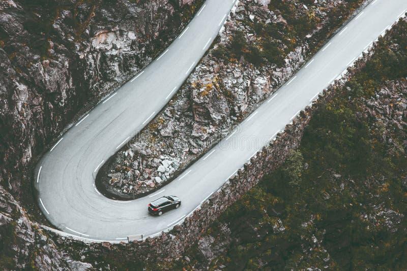 Дорога кривой Trollstigen в серпентине Норвегии стоковое изображение rf
