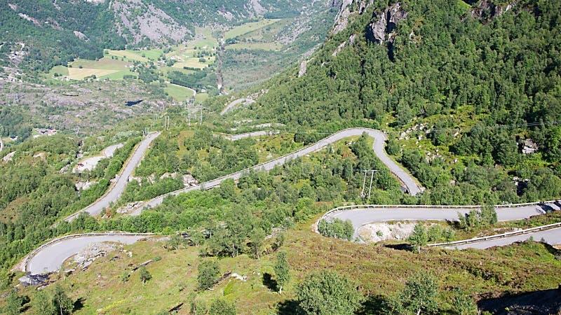 Дорога к горе Kjerag, Норвегии стоковые фотографии rf