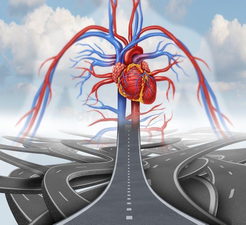 Дорога к здоровью иллюстрация вектора