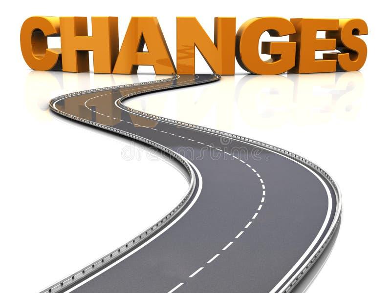 Дорога к изменениям иллюстрация штока