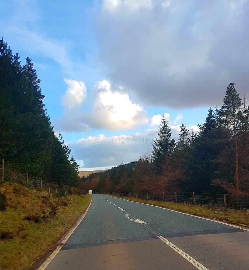 Дорога к национальному парку 2 Snowdonia стоковые изображения