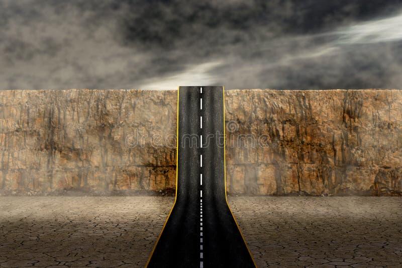 Дорога к неизвестному иллюстрация штока