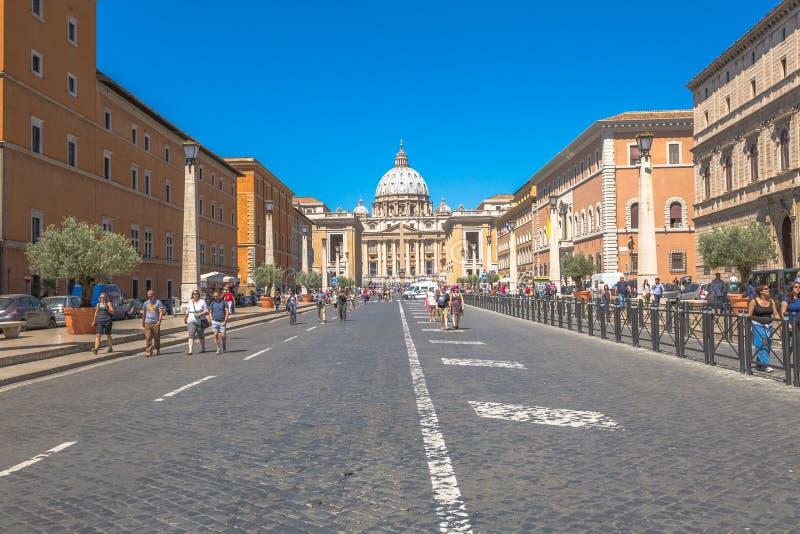Дорога к Сан Pietro Риму стоковые фото