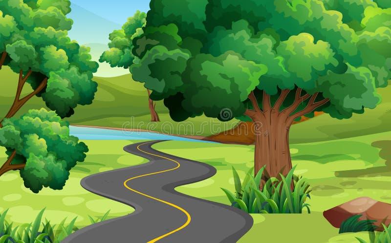 Дорога к сельской местности бесплатная иллюстрация