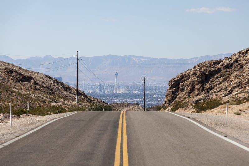 Дорога к стратосфере Лас-Вегас стоковые изображения rf