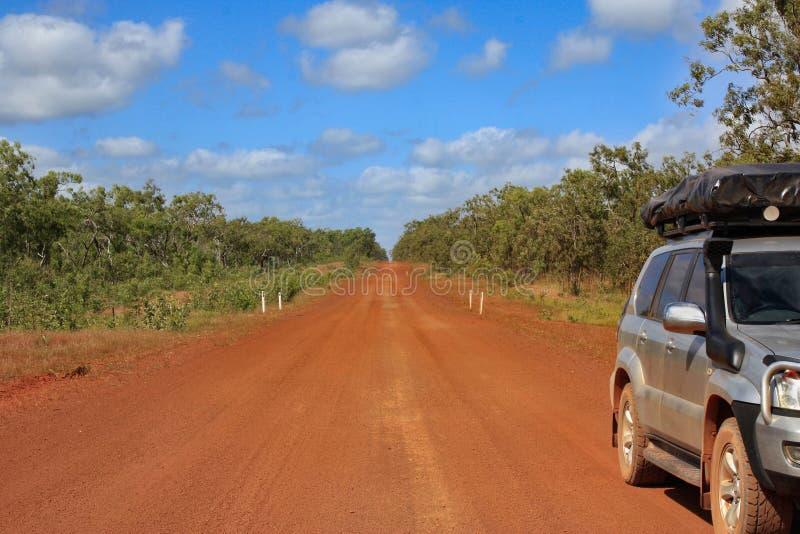 Дорога к Bamaga стоковые фото