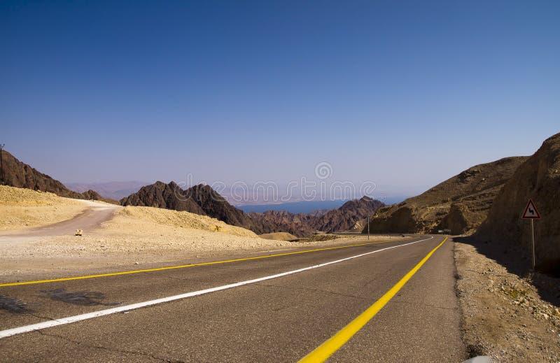 Дорога к Eilat стоковая фотография rf