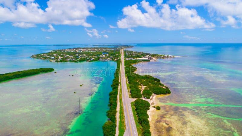 Дорога к Key West над ключами морей и островов, Флориды, США стоковое фото