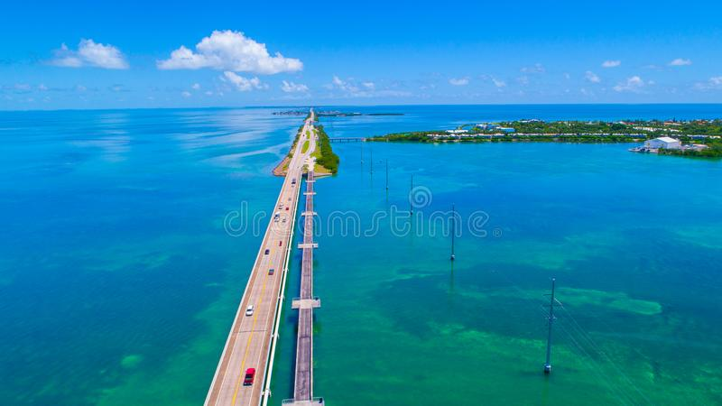 Дорога к Key West над ключами морей и островов, Флориды, США стоковое изображение rf