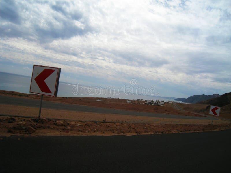Дорога к Sharm El Sheikh, Египту, южному Синаю стоковые изображения rf