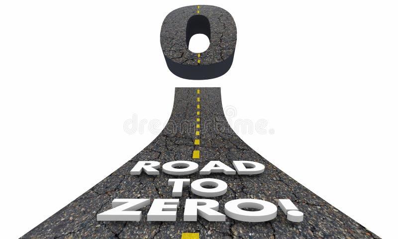 Дорога к zero уменьшению исключает более низкий риск иллюстрация вектора
