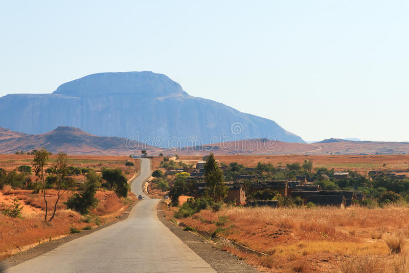 Дорога Мадагаскар стоковая фотография