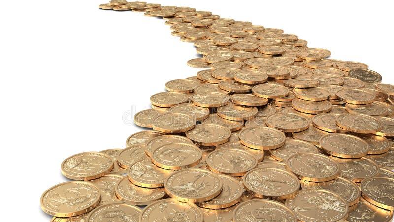 Дорога монеток бесплатная иллюстрация
