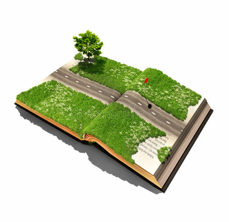 Дорога на книге бесплатная иллюстрация
