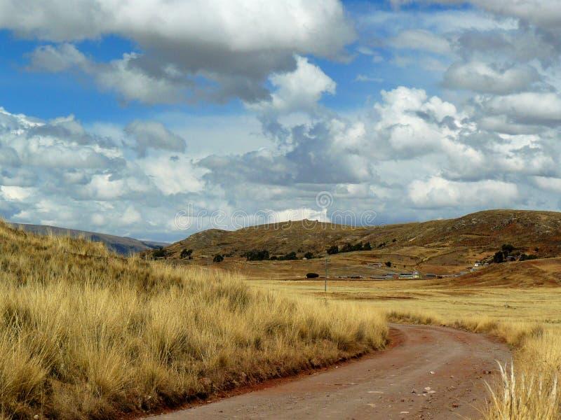 Дорога на открытом поле стоковая фотография rf
