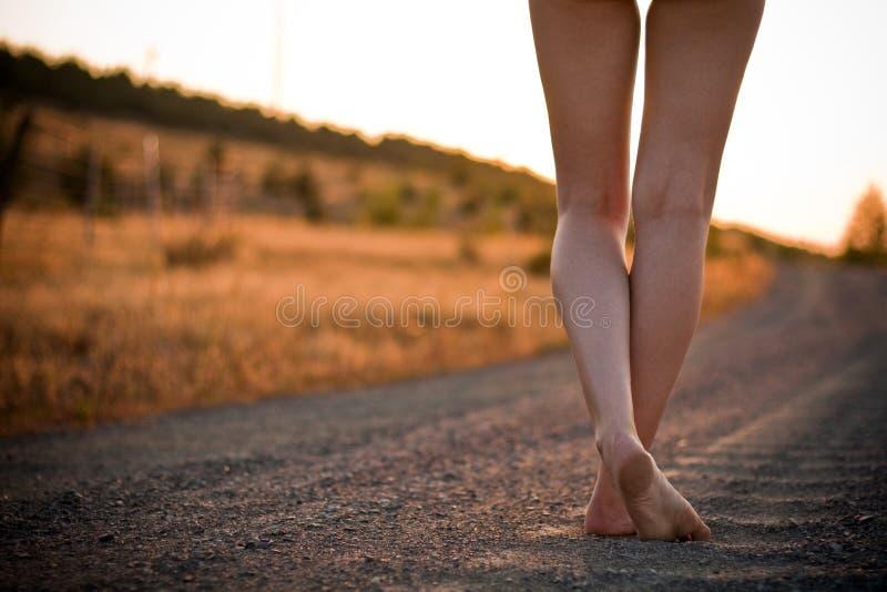 дорога ног сельская стоковое изображение