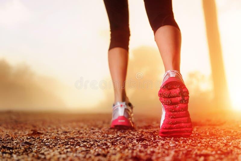 дорога ног спортсмена стоковая фотография