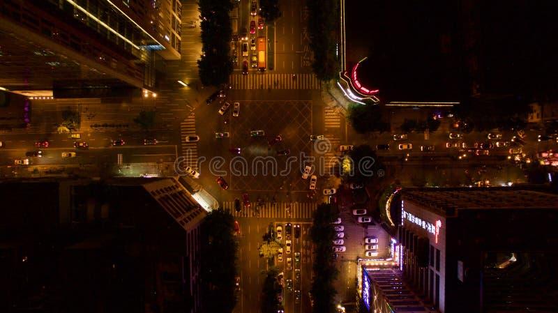 Дорога ночи в Китае стоковые изображения