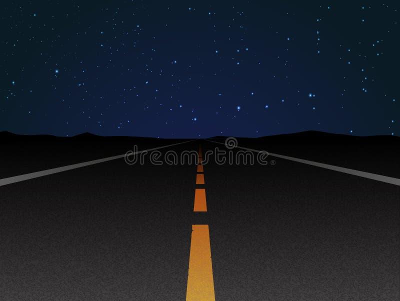 Дорога ночи бесплатная иллюстрация
