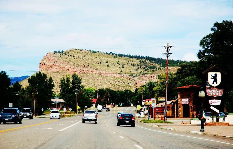 Дорога от парка направления США положения denver Колорадо стоковые фото