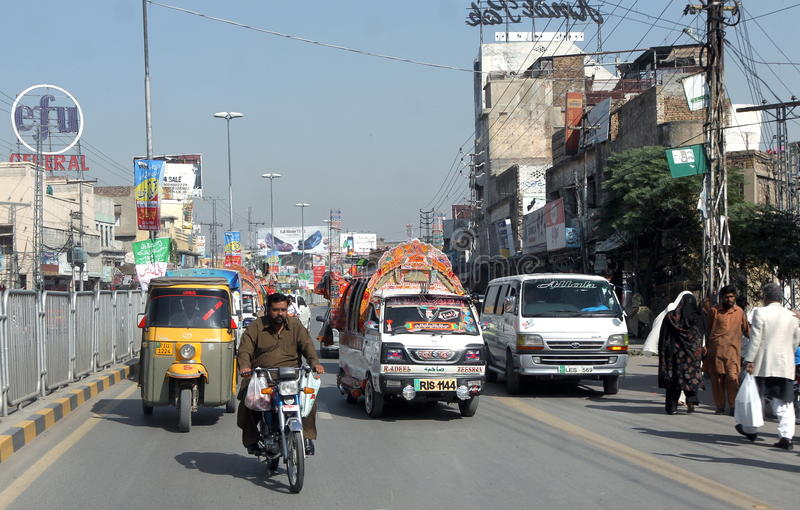 Дорога Пакистана стоковое изображение
