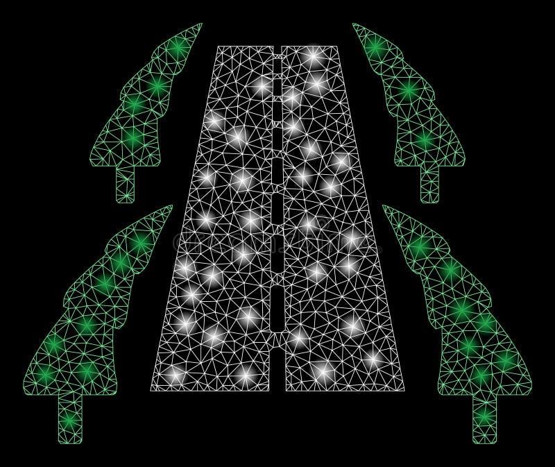 Дорога переулка дерева сетки пирофакела 2D с засветками экрана бесплатная иллюстрация