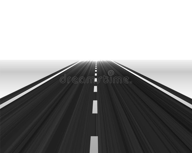 Дорога перспективы к горизонту иллюстрация вектора
