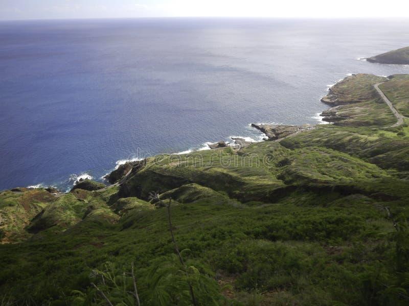 Дорога, пляж, океан стоковые изображения rf