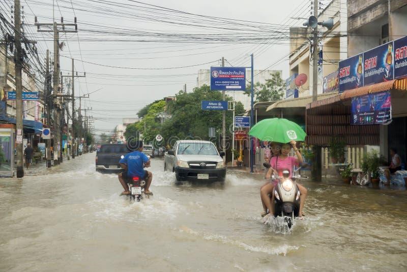 Дорога потока в Phatthalung, Таиланде стоковое фото