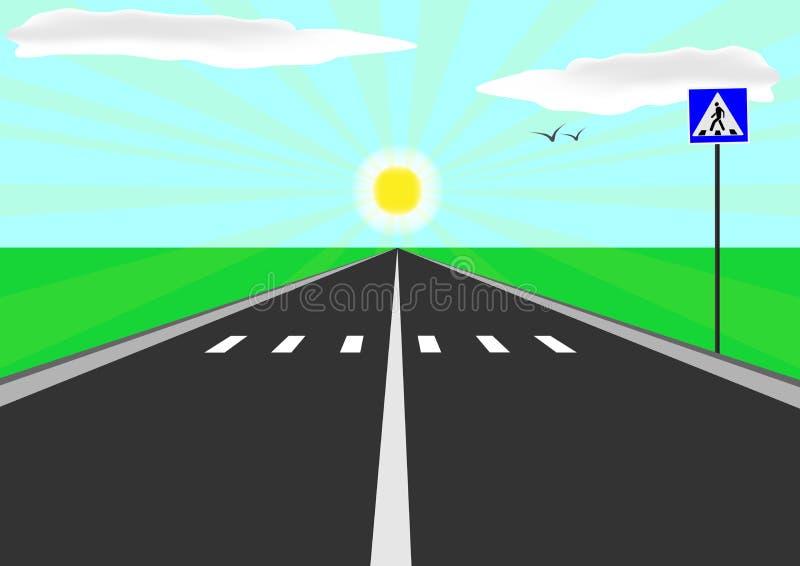 дорога прямо бесплатная иллюстрация