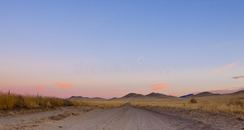 дорога пустыни открытая стоковые изображения