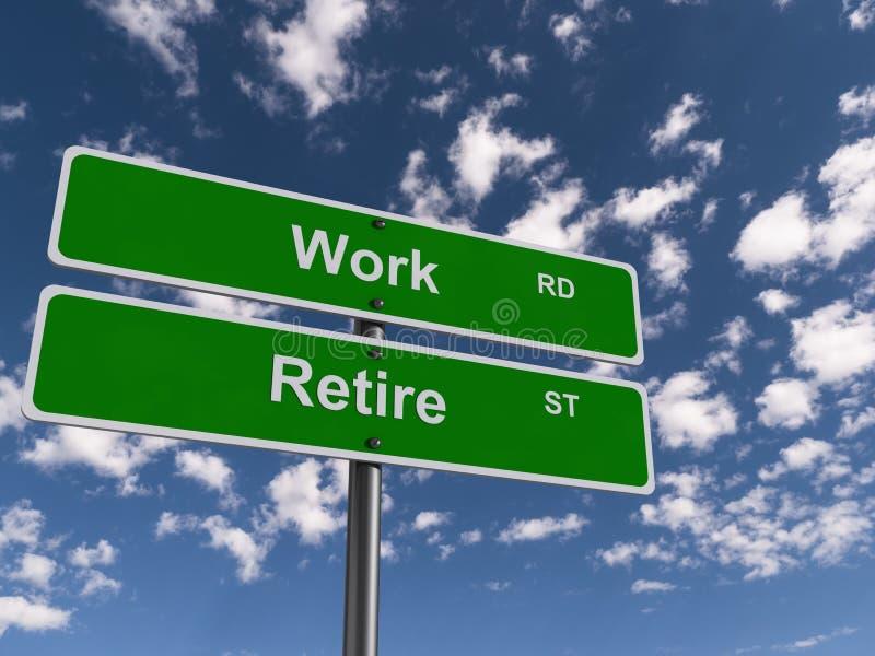 Дорога работы и улица выхода на пенсию стоковые изображения rf