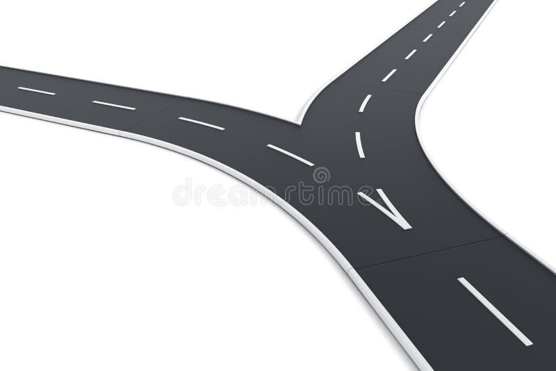 дорога разделяя вверх иллюстрация вектора