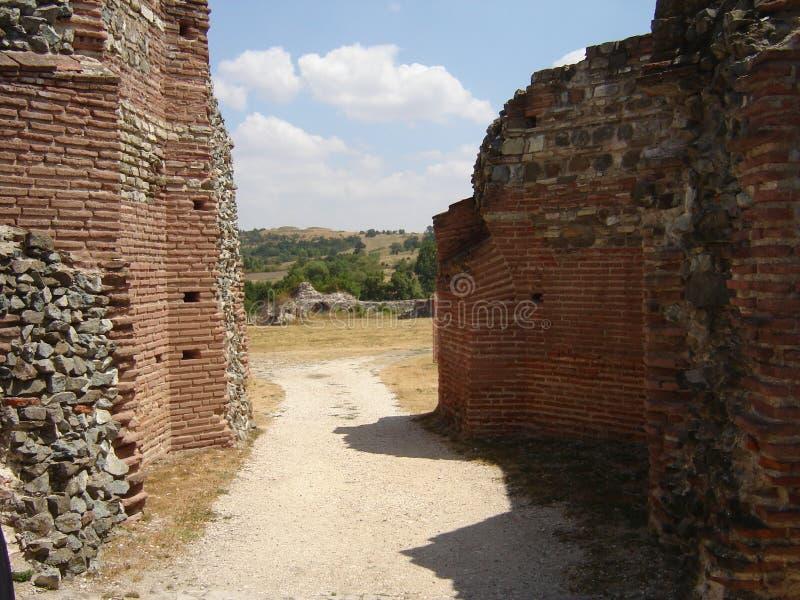 дорога римская к вилле стоковая фотография