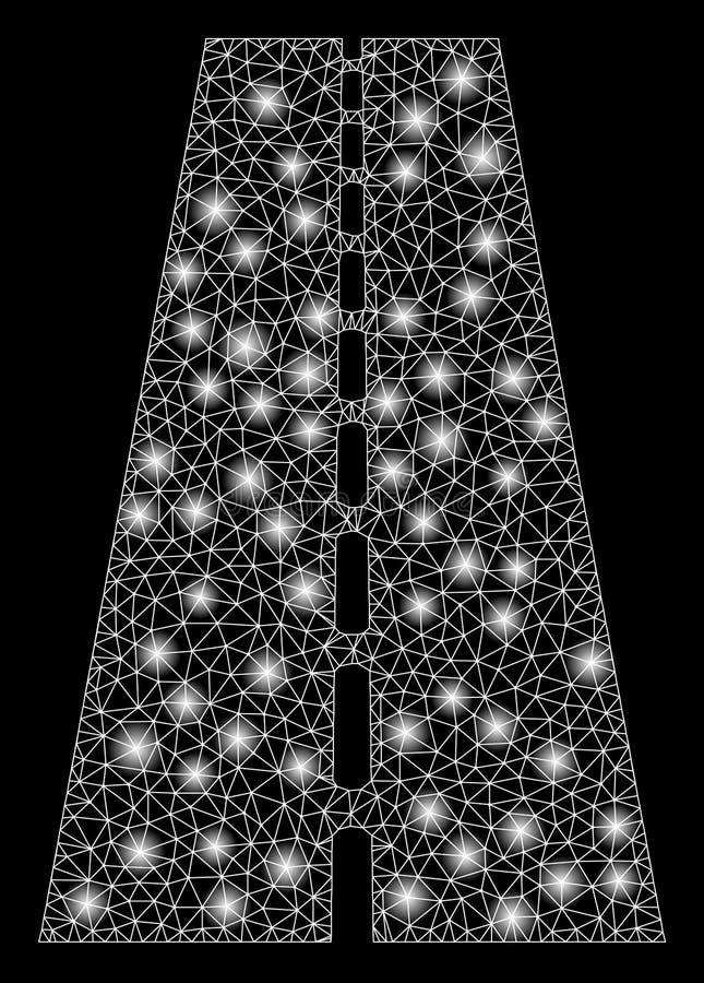 Дорога сетки пирофакела 2D прямая с засветками экрана бесплатная иллюстрация