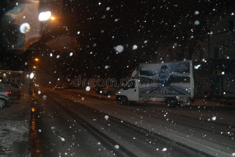 Дорога снега Festina стоковые фотографии rf