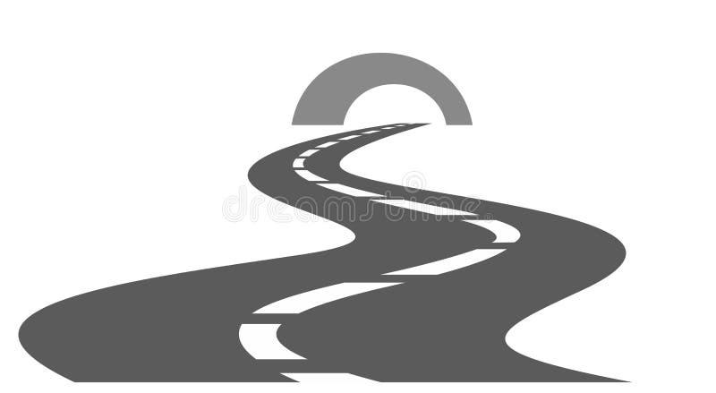 Дорога с тоннелем бесплатная иллюстрация