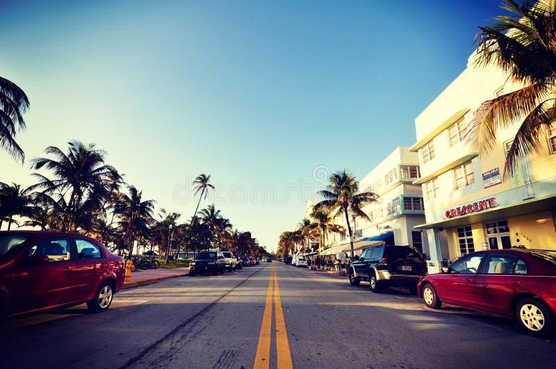 Дорога утра Майами к миру рая стоковое изображение rf