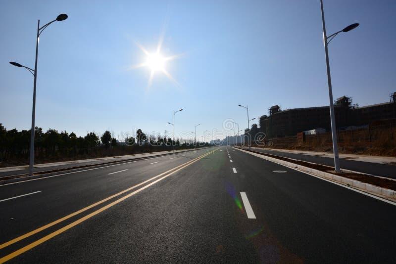 Дорога уличного фонаря стоковое изображение rf