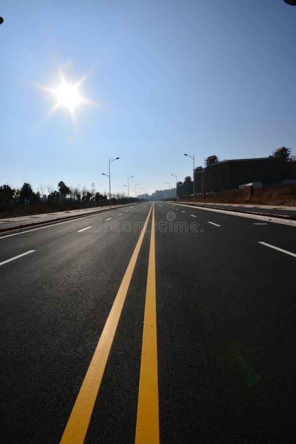 Дорога уличного фонаря стоковое фото rf