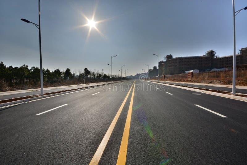 Дорога уличного фонаря стоковые фото