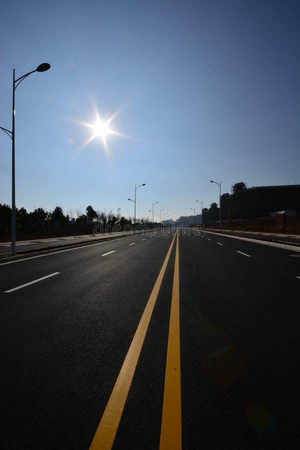 Дорога уличного фонаря стоковые изображения rf